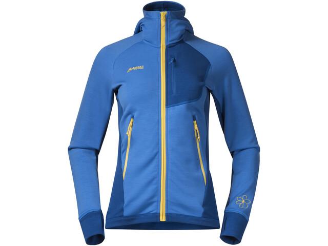Bergans Cecilie Wool Jacket Women Cloud Blue/Navy/Sun